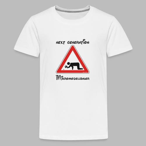 Warnschild Mikromodellbauer Next Generation - Teenager Premium T-Shirt