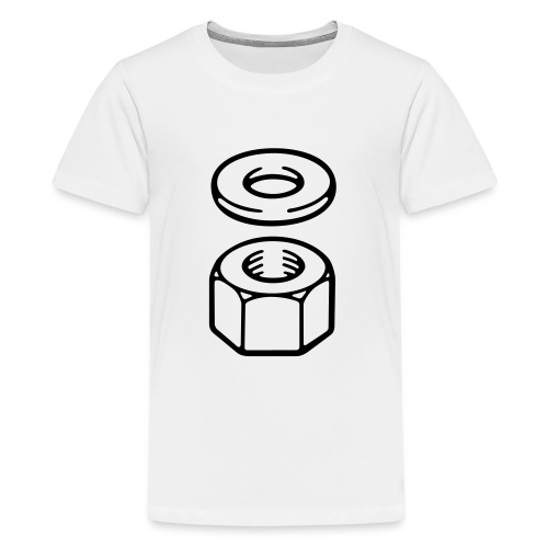 Nut and washer - Teenage Premium T-Shirt