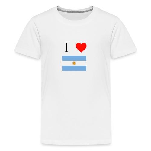 i love argentina - Camiseta premium adolescente