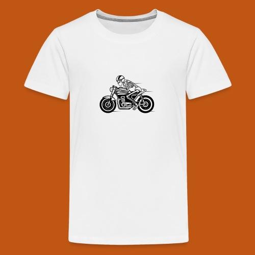 Cafe Racer Motorrad 05_schwarz - Teenager Premium T-Shirt