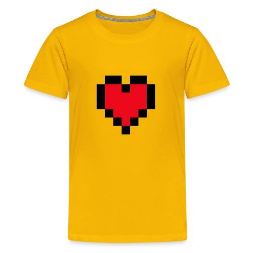 Pixel Heart - Teenager Premium T-shirt