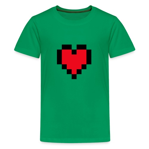 Pixel Heart - Teenager Premium T-shirt