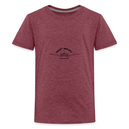 Daisy Blueprint Front 1 - Premium-T-shirt tonåring
