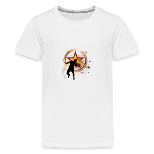 Fussball Fanshirt Deutschland - Kopfball Treffer - Teenager Premium T-Shirt