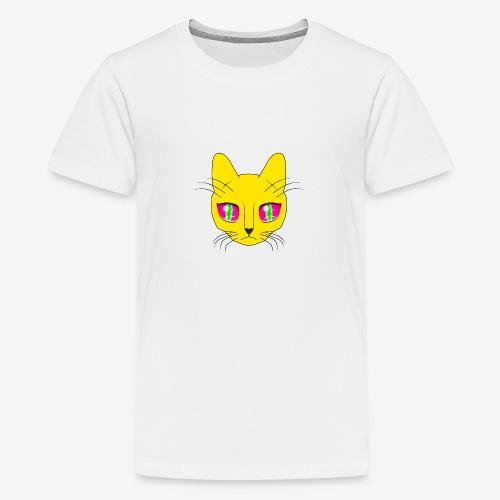 Die Katze mit den großen Augen - Teenager Premium T-Shirt