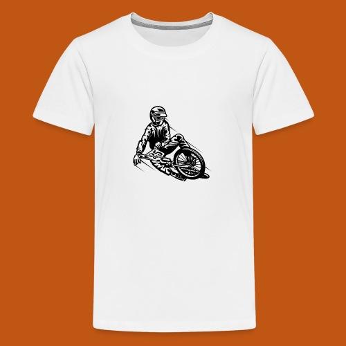 BMX / Mountain Biker 03_schwarz - Teenager Premium T-Shirt