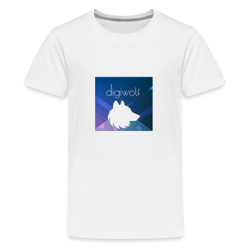 Digiwolf Logo Print - Teenage Premium T-Shirt