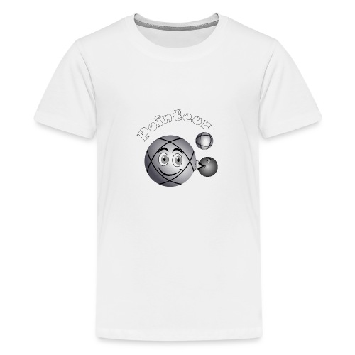 t shirt pétanque pointeur boule existe en tireur B - T-shirt Premium Ado