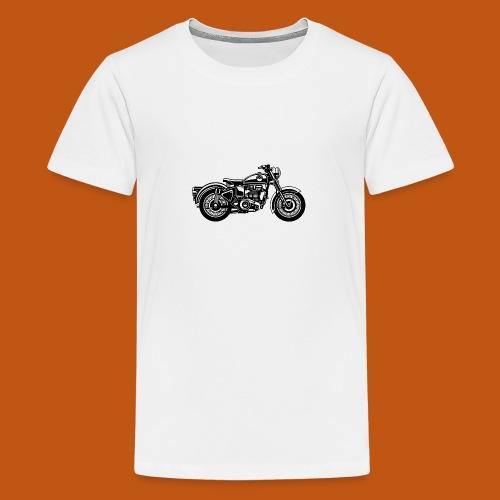 Motorrad / Classic Motorcycle 04_schwarz - Teenager Premium T-Shirt