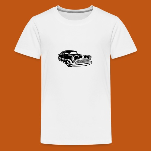 Lowrider / Oldtimer / Muscle Car 03_schwarz - Teenager Premium T-Shirt