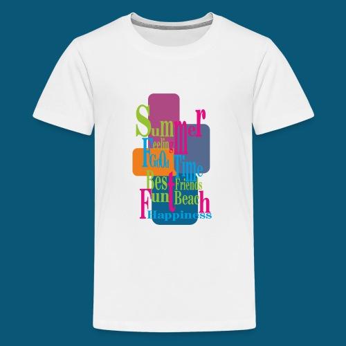 Summer Feeling.png - Teenager Premium T-Shirt