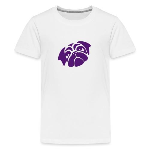 Mops mit schiefen Gesicht - Teenager Premium T-Shirt