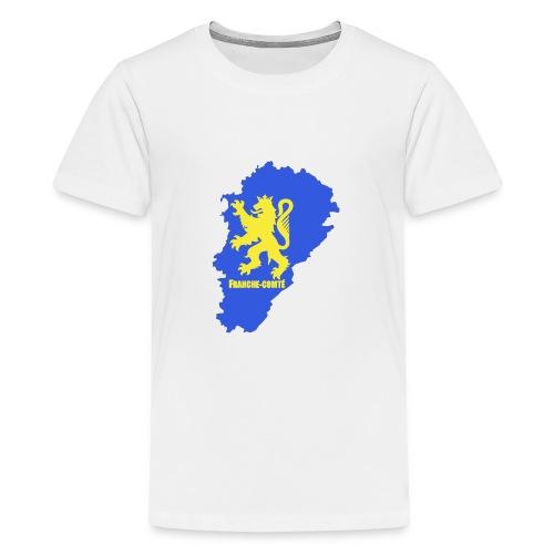 Carte Franche-Comté + lion - T-shirt Premium Ado