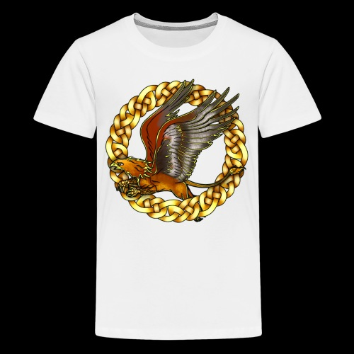 Golden Gryphon - Teenage Premium T-Shirt