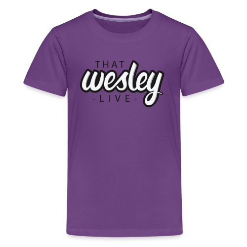 ThatWesleyLOGO 3 4 png - Teenager Premium T-shirt