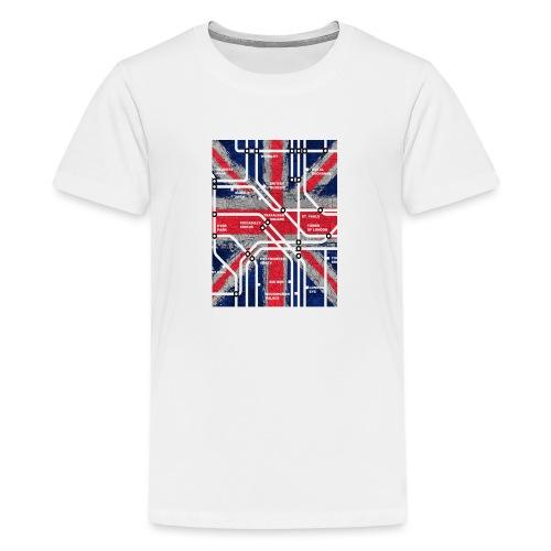 tube map - Teenage Premium T-Shirt