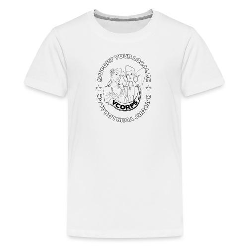 Support-LocalBC-White - Teenage Premium T-Shirt