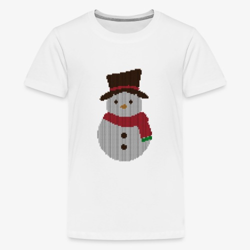Ugly Sweater - Snowman - Teenager Premium T-Shirt