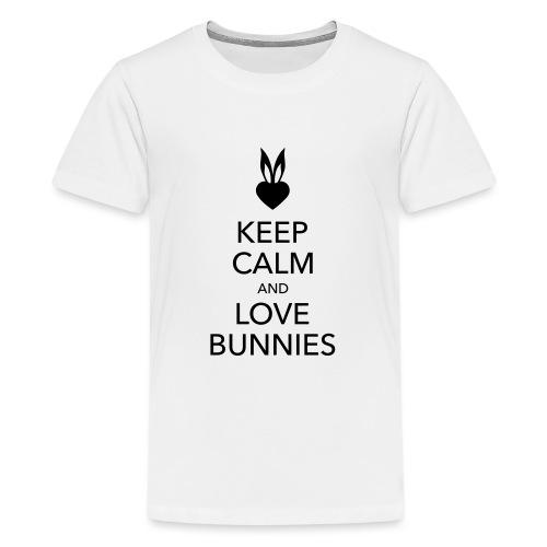 keep calm and love bunnies Hasen Liebe Herz - Teenager Premium T-Shirt