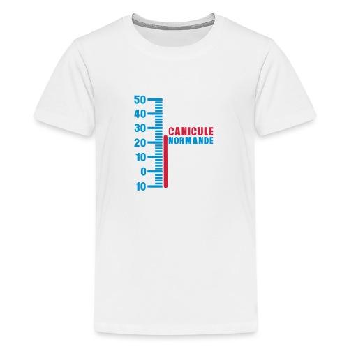 thermometre canicule normande humour - T-shirt Premium Ado