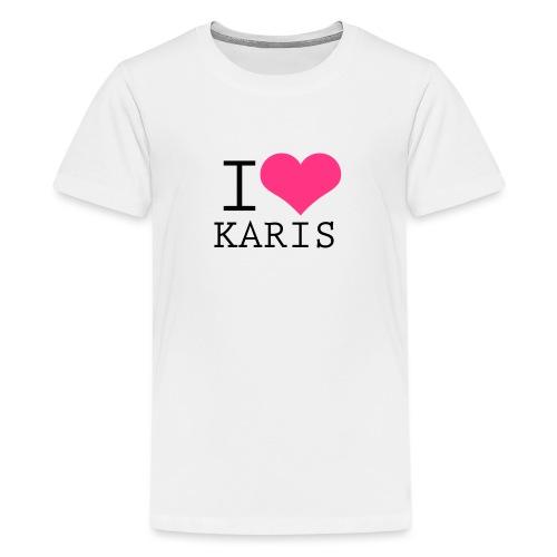 I HEART KARIS - Teinien premium t-paita