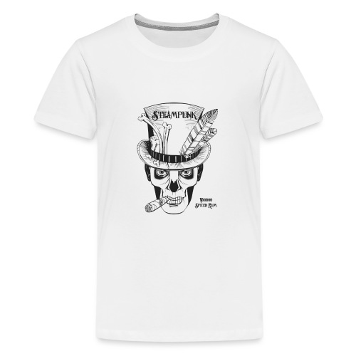 Steampunk Voodoo Spiced Rum - Teenage Premium T-Shirt