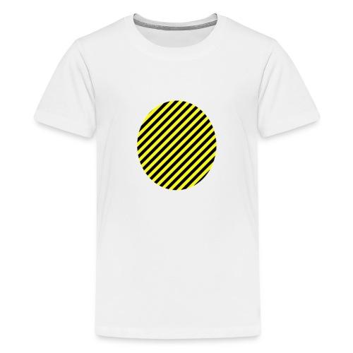 varninggulsvart - Premium-T-shirt tonåring