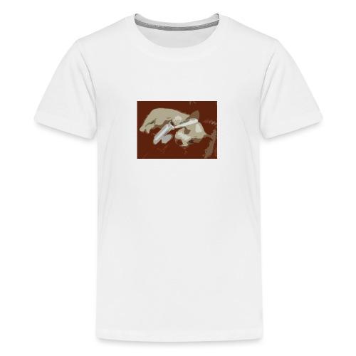 Dog speaking in phone - Premium T-skjorte for tenåringer