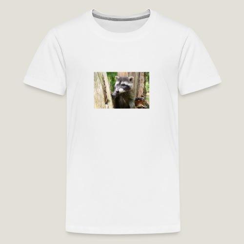 Junger Waschbär - Teenager Premium T-Shirt