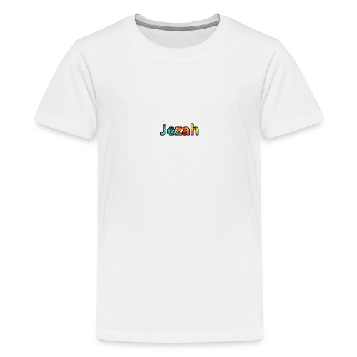 jezah merch text - Teenage Premium T-Shirt