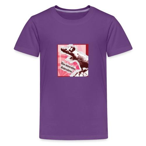 Mus musculus - punainen - Teinien premium t-paita