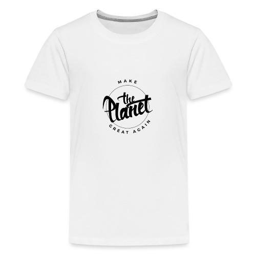 MakeThePlanetGreatAgain Organic Shirt White - Teenage Premium T-Shirt
