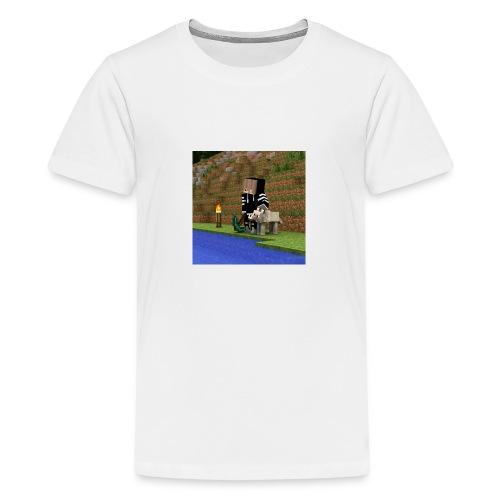 Das sind die Sachen mit mir und einen Wolf draufjj - Teenager Premium T-Shirt