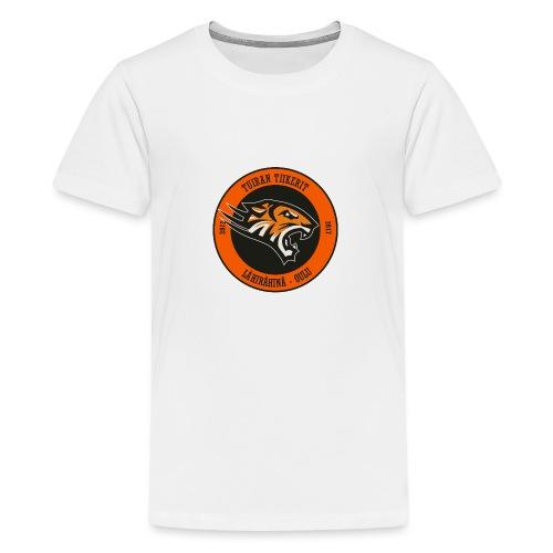 Tuiran Tiikerit, värikäs logo - Teinien premium t-paita