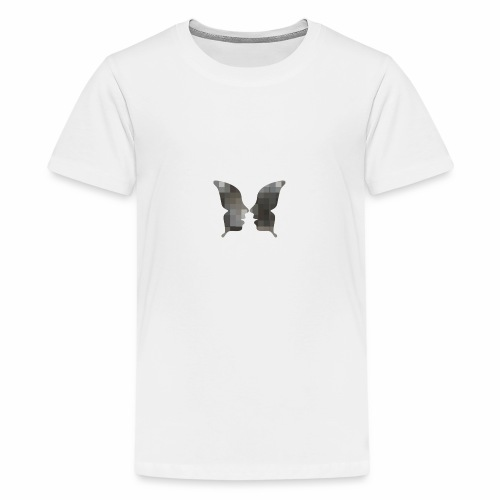 Schmetterlingsgesicht - Teenager Premium T-Shirt