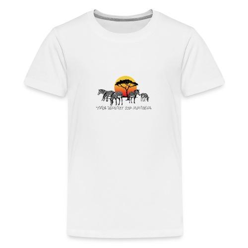 Spirit of Africa Zebra Afrika Sonne Savanne Safari - Teenage Premium T-Shirt