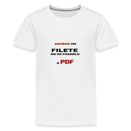 adobar un filete - Camiseta premium adolescente