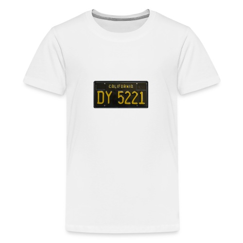 CALIFORNIA BLACK LICENCE PLATE - Teenage Premium T-Shirt