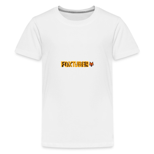 foxtuber naam + logo - Teenager Premium T-shirt