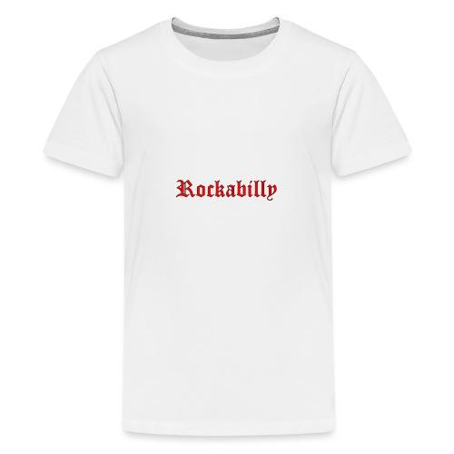 rockabilly red contour noir - T-shirt Premium Ado