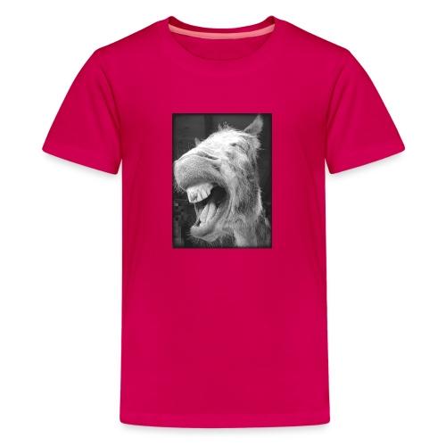 lachender Esel - Teenager Premium T-Shirt