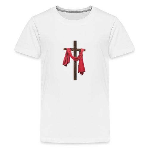 iglesia diseño jesus - Camiseta premium adolescente