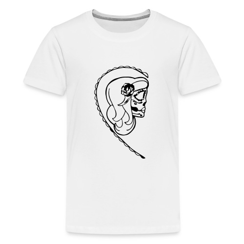 HER SUGAR SKULL - Teenage Premium T-Shirt