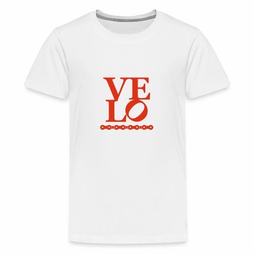 Bike Velo Love Fahrrad-Liebe - Teenager Premium T-Shirt