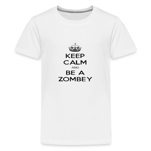 MiningZombey Merchstore logo v1 schwarz - Teenager Premium T-Shirt