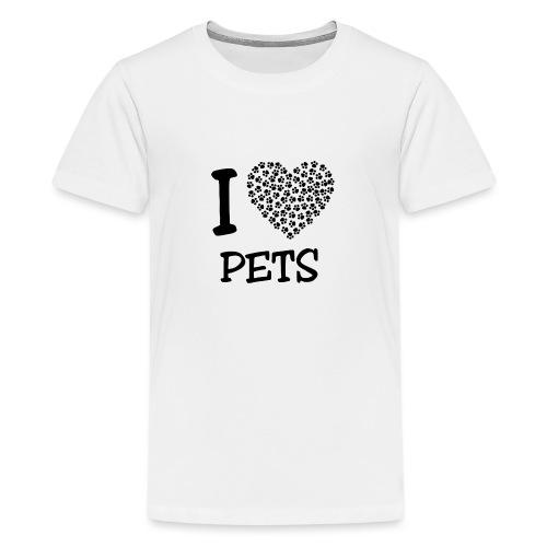 I LOVE PETS - Camiseta premium adolescente