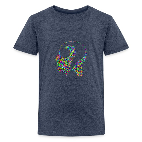 Fragender Kopf - Teenager Premium T-Shirt