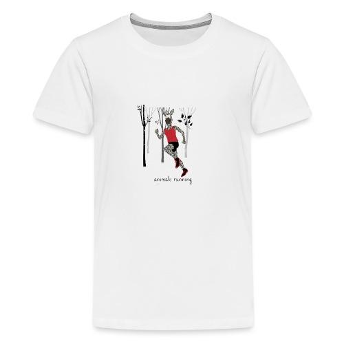 Zèbre running - T-shirt Premium Ado