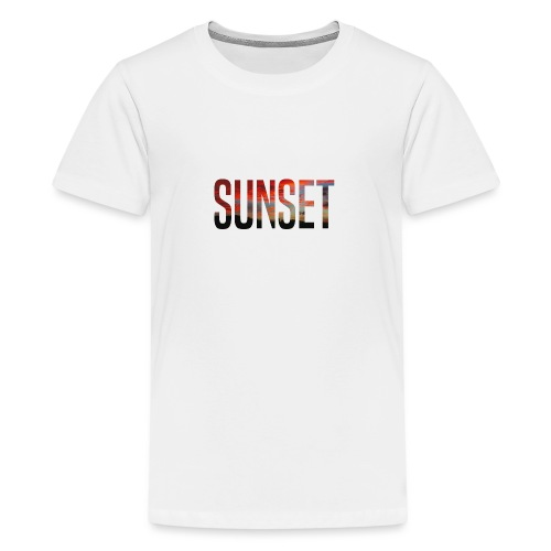 sunset - T-shirt Premium Ado