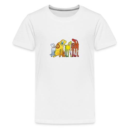 Hunde Meute Pinscher beste Freunde treues Haustier - Teenage Premium T-Shirt